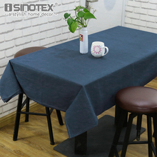 Solid Table Cloth Table Cover Multifunctional Tablecloth Rectangle Linen Cotton Waterproof Europe Woven Home Kitchen Decoration(China)