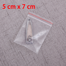 500pcs 5x7cm SMALL ZIP LOCK RECLOSABLE BAGS CLEAR SELF SEALING ZIPLOCK PLASTIC BAG MINI BAGGIES ZIPPER PACKAGING GIFT POUCH 2MIL