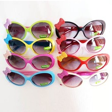 Sun Glasses for Toddlers Kids Plastic Frame Sunglasses Girls Baby Bowknot Cat Eye Shades Goggles Eyewear UV400