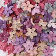 30pc Mix Small Exquisite Leather Flowers Handmade Artificial Flower Head Wedding Decoration DIY Scrapbooking Craft Fake Flower(China)