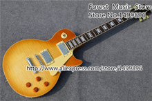 Hot Selling China OEM Electric Guitar 1959 R9 Collector's Choice Yellow Tiger Flame LP Standard Guitar Lefty Available