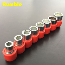 New High Quality 8Pcs 5-12MM Metric Combination Drive Socket Set CRV Mirror Finished For Home Auto Car Repair Hand Tools Hot