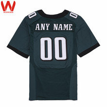Custom Made Men/Women/Youth High Quality Stitched Logos&Name&Number Football Jerseys Big&Tall Size Color Black Green White(China)