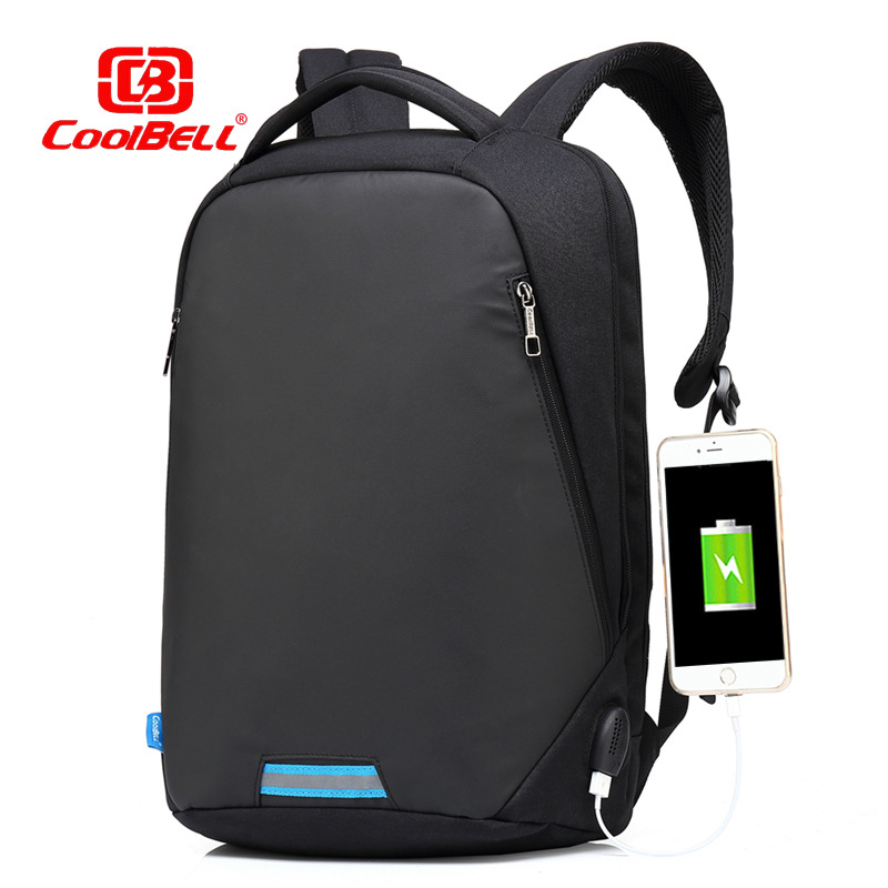 M132 New 15.6 Inch Laptop Backpack With Code Lock Functional Travel Knapsack Light-weight Backpack With USB Port Charging Port<br>