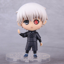 10cm Anime Tokyo Ghoul Kaneki Ken Cosplay PVC Action Figure Q Version Figures Collectible Model Toys Dolls With Box(China)