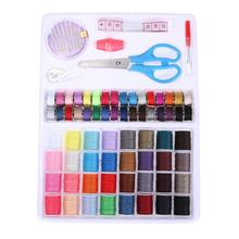 Travel Household Colors Needle Bobbin Thread Sewing Set Rippers Scissors Hand Stitch Cotton Line Sewing Thread with Packing Box(China)