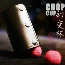 Leather Chop Cup (with magic wand) - Trick, 2013 new cup magic(China)