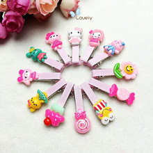 New Cute Girls Hairpins Resin Acrylic Stereo Cartoon Animals Hair Clips Child Flower Hair Barrette for Kids Hair Accessories