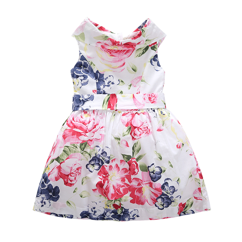 Europe and the United States children dress 2017 new summer dress baby girl and baby dress cotton printing<br>