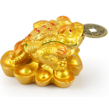 Feng Shui Money LUCKY Fortune Wealth Chinese for Frog Toad Coin Home Office Decoration Tabletop Ornaments Good Lucky Gifts