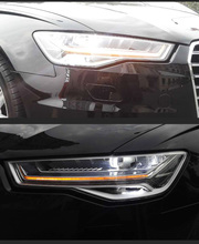 , CHA FOR 2012-2015 A6L LED HEADLIGHT HEADLAMP, LED TEAR EYE WITH YELLOW TURN SIGNAL AND PROJECTOR