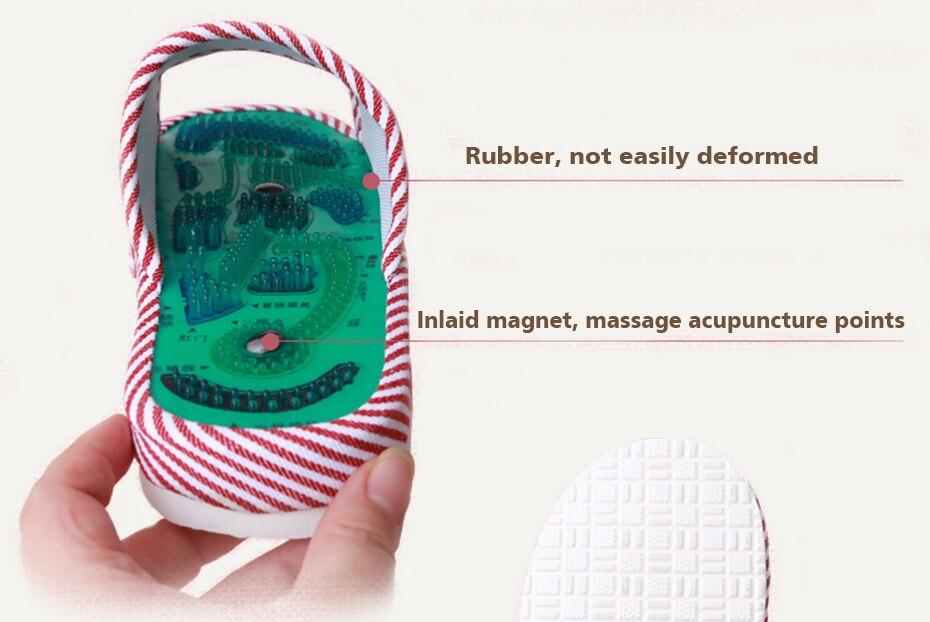 Men Women Acupressure Points Massage Shoes 1 Pair Magnetic Reflexology Slippers