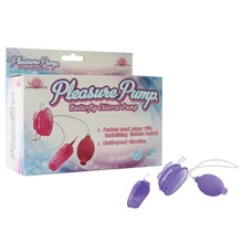 Buy Pleasure Pump - Pink Multi-speed vibration Butterfly Clitoral Pump Vibrator Chest sucker Nipple massage