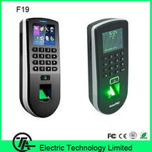 Optical sensor biometric fingerprint access control F19 fingerprint + keyboard access control system communication with TCP/IP(Hong Kong)