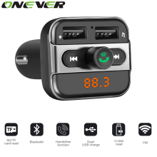 Bluetooth Car Kits MP3 Player with TF Card Slot Dual USB Port Car Charger FM Transmitter Modulator Handsfree Phone Calling 1PCS