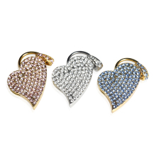 Garunk New Arrival Pen Drive 64GB Diamond Crystal Heart USB Flash Drive 4GB 8GB 16GB Metal USB Stick USB 2.0 32GB Free Shipping