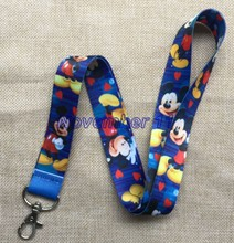 Lot 50Pcs mixed cartoon mickey Cell Phone Lanyards MP3 Strap Lanyards NECK Lanyard Charm WW374