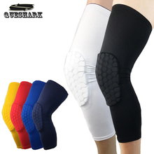 Queshark 1Pc Long Cycling Leg Warmers Basketball Leg Sleeve Knee Pads Honeycomb Football Shin Guard Gym Leggings Protective Gear