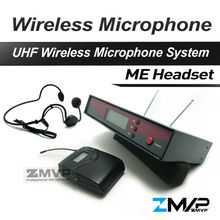 Free Shipping!! 122 G2 Professional UHF Wireless Microphone Wireless System With BodyPack Transmitter Headset Mic(China)
