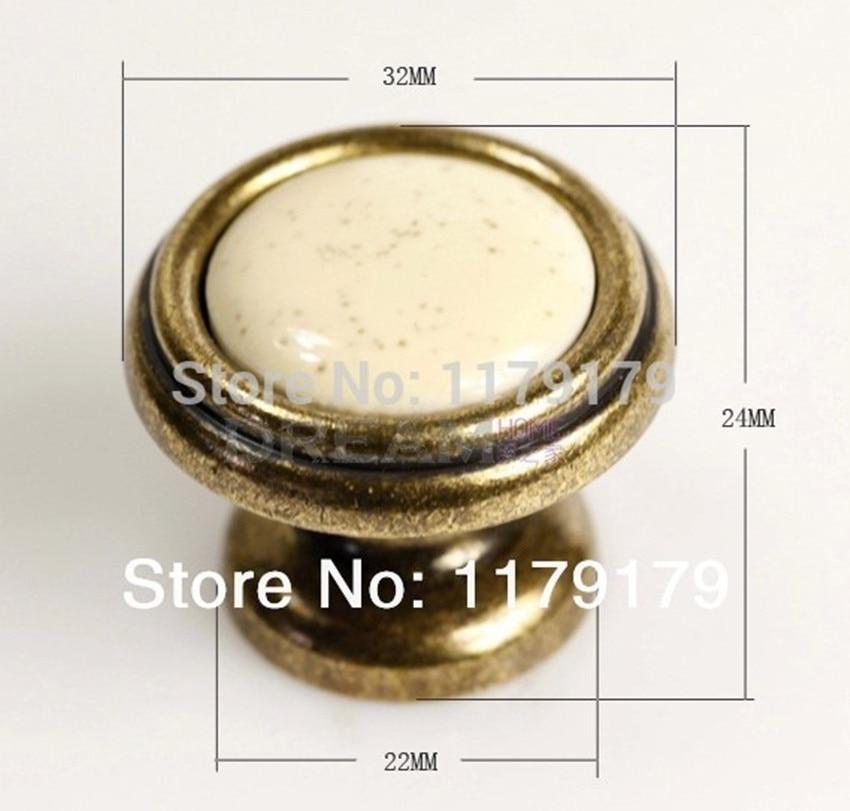 32mm ceramic drawer knob pull bronze kitchen cabinet handle knob antique brass dresser cupboard  furniture handles ull knobs 416<br><br>Aliexpress