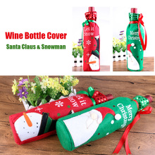 High Quality 1Pc Christmas Table Decoration Wine Bottle Cover Bags Santa Claus Christmas Ornament Decorations #91783