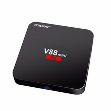 Free shipping 2017 V88 RK3229 tv box mini pc fan Android 6.0 1G Ram 8G Rom 4 USB TV Box full hd 1080p android tv box support 4k