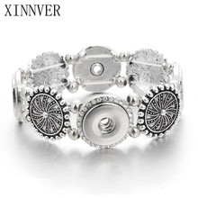 Hot Sale High Interchangeable snap jewelry for 18-20mm Xinnver Snap Button Elastic Bracelets Bangles For Women ZE255(China)