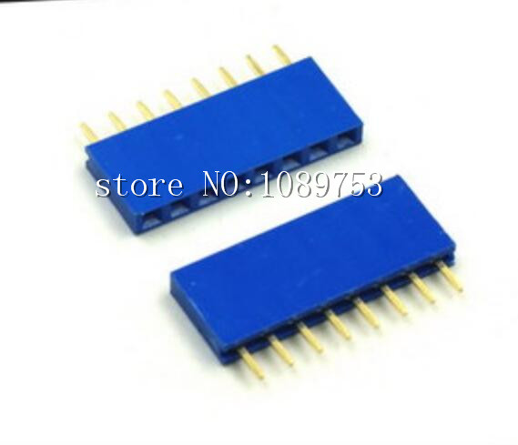 50Pcs Blue 2.54mm 1* 8 8pin Dip Single Row Female Pin Header Connector For DIY<br><br>Aliexpress