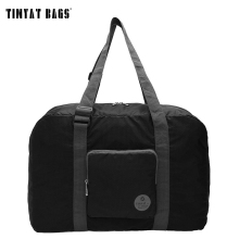 TINYAT Waterproof Foldable Bag Women Light Luggage Nylon Duffle Bag Convenient Usage Storage Bag Travel Bag 302 Black