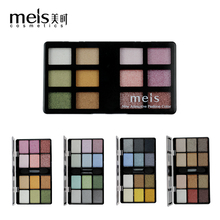 MEIS Brand Professional makeup eyeshadow glitter make up Eye shadow 12 Colors eyeshadow Palette Beauty eye glitter MS414(China)