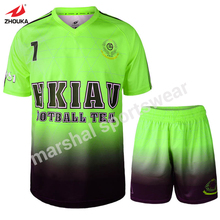 Wholesale dry fit 2016 new design sublimation printed football jersey(China)
