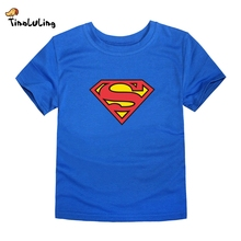 TINOLULING 2017 Kids Superman T-Shirt Boys Girls Batman T Shirt Children Tops Baby Tees For 2-14 Years