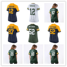 Women's Aaron Rodgers Jordy Nelson Clay Matthews Ty Montgomery Ha Ha Clinton-Dix Randall Cobb Custom Packers Women Jerseys(China)