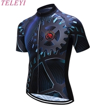 teleyi cool cool print summer men's high quality cycling jerseys Bicycle top shirt road cycling gear clothing