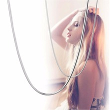 Fashion Women Girl 18'' Solid 925 Sterling Silver Strong Snake Chain Necklace(China)
