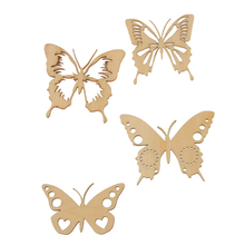 New Hot Sale Vintage Butterfly Wings Unfinished Wood Shape Craft Supplies Laser Cut Out Stickers DIY Arts Decoration