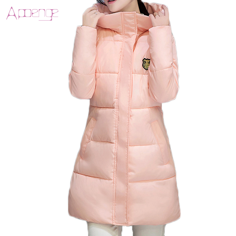 APOENGE 2017 new Winter parkas for women hooded winter long parkas plus size winter jackets thicker coats autumn Parka LZ356Îäåæäà è àêñåññóàðû<br><br>