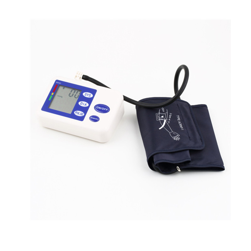 Fully automatic arm style blood pressure monitor Digital LCD large display professional accuracy memory Household Health care 7