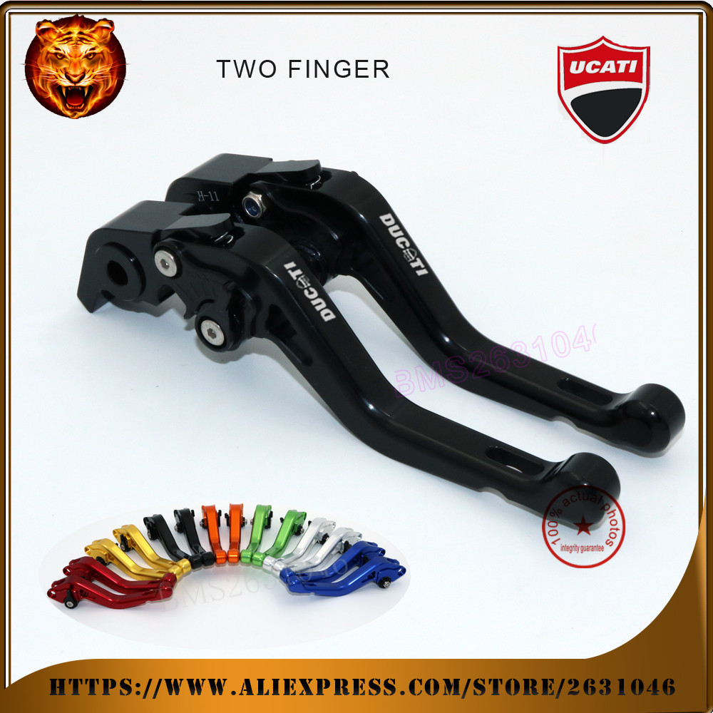 For DUCATI Multistrada 1200 /s streetfighter /s streetfighter 848 Motorcycle red black  Adjustable Short Brake Clutch Levers <br><br>Aliexpress