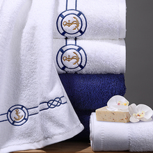 75cmX40cm Jacquard Cotton Terry Hand Towels,The Mediterranean Sea Elegant Embroidered Bathroom  Towels,Face Hand Towels