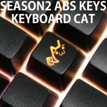 Novelty Shine Through Keycaps ABS Etched, light,Shine-Through keyboard cats black oem profile red black xd60 xd64 gh60 87 104 96(China)