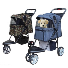 New Large Capacity Pet Stroller Three Wheels Stroller for Dog Breathable Pet Carrier Dog Car Carrier Pet Supplies