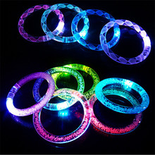 Wholesales 10 Pieces/lot LED Glow Bangle Luminous LED Bracelet for Birthday Wedding Christmas Day Party Creative Party Supplies