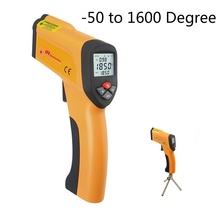 IR Digital Thermometer -50 to +1600 Centigrade Degree Non-Contact Pyrometer LCD Backlight High Accuracy High Temperature Meter(China)