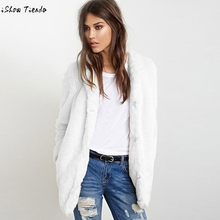 Buy New Ladies Womens Warm Furry Faux Fur Jacket Winter Parka Outerwear White Fashion Autumn Loog Overcoat Cardigan Casaco Pele#21 for $23.93 in AliExpress store