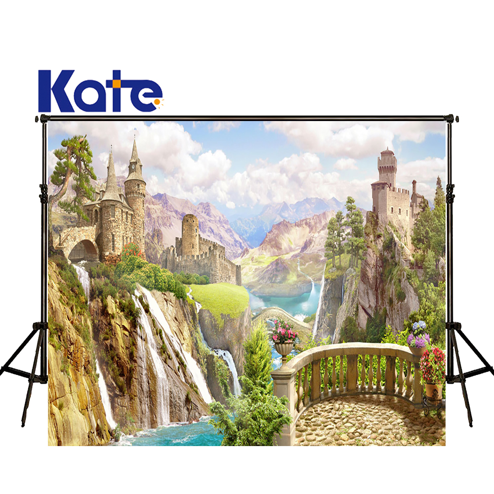 KATE Photography Background Castle Photography Backdrop 10ftx10ft Scenic Wedding Backdrops Fairy Tale Forest Children Background<br>