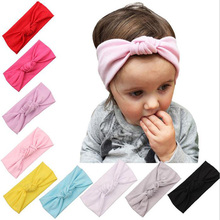 2016 Fashion 10pcs/lot Children Knotted hair band cotton Knitted Headwrap Kids Knitting wool crochet headband for Baby Grils