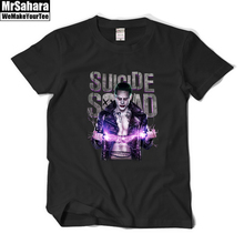 Suicide Squad Jared Leto Joker short sleeve t shirt women men premium unisex cotton 100% casual loose sportswear brand tee tops