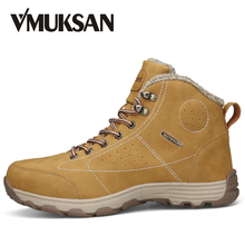 VMUKSAN Hot Koop Laarzen Mannen Big Size 39-46 Fashion Enkel Laarzen Heren Hoge Kwaliteit Lace Up Casual Man sneeuw Schoenen(China)