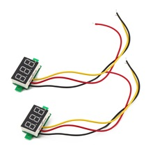 1Pc Three-wire DC Digital DC 0-100V Reverse Polarity Protection Car Voltmeter Brand New